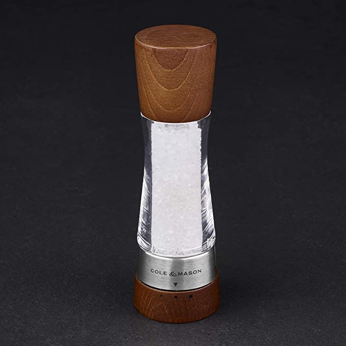Wood and Acrylic Cole and Mason Gourmet Precision Derwent Forest Pepper Mill 19 cm
