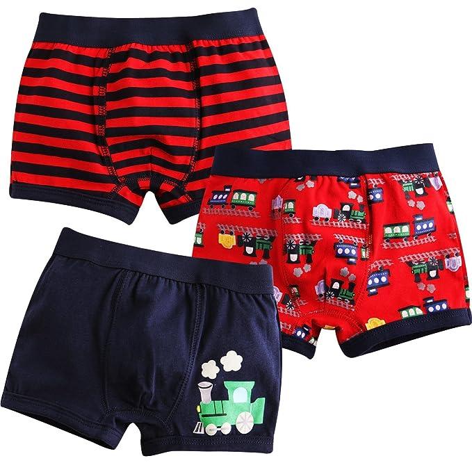 7f127b8df0f7 Jojobaby Baby Toddler Kids 2T-7T Boys Boxer Brief 3-Pack Underwear Set 90cm