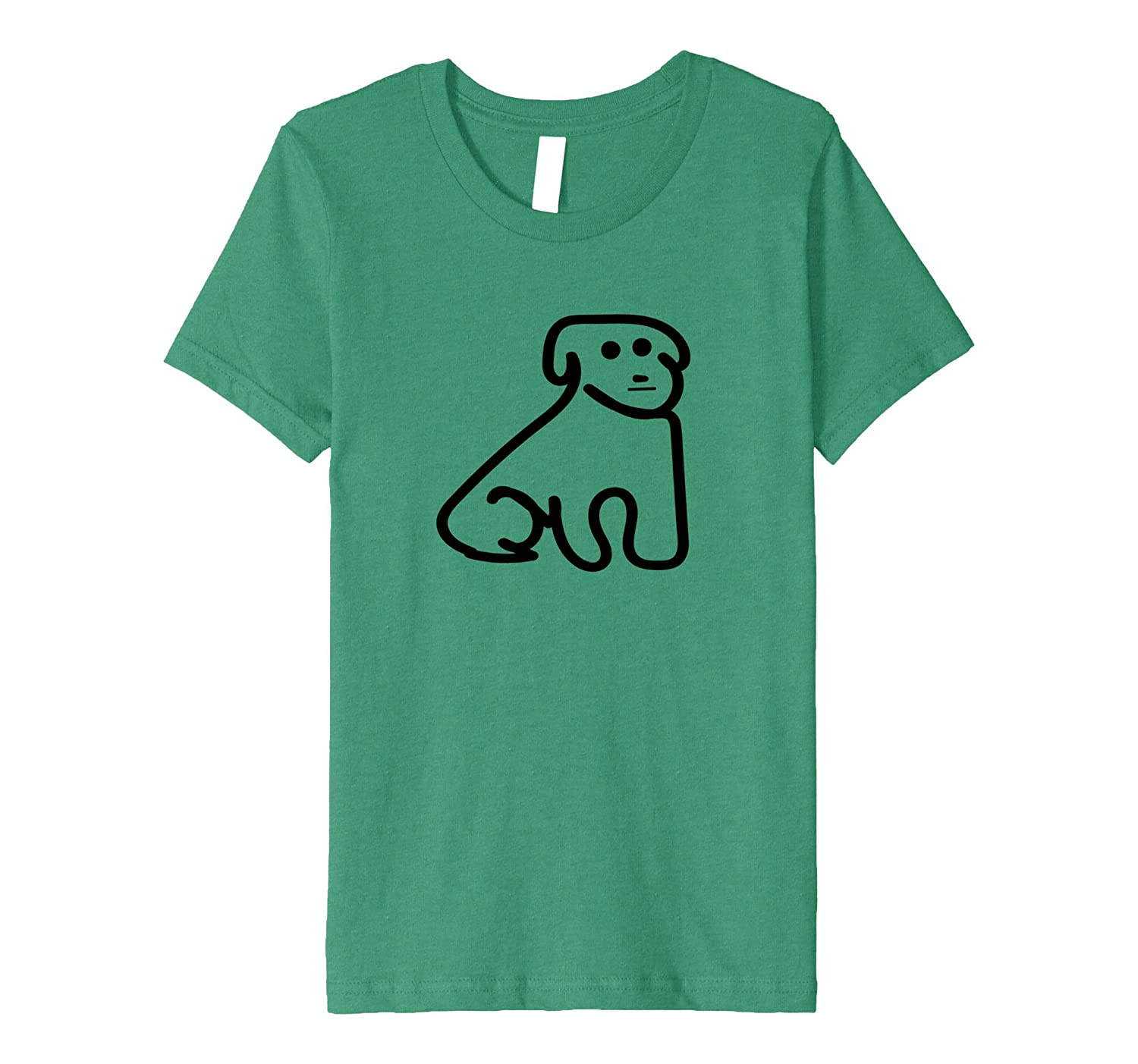 Sweet Doggy Dog Canine Tee Cute Simple Sophisticated