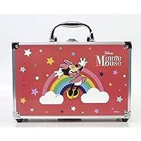 Minnie Mouse Makeup Train Case - Maletín de Maquillaje de 2 Pisos - Set de Maquillaje para Niñas - Maquillaje Minnie…