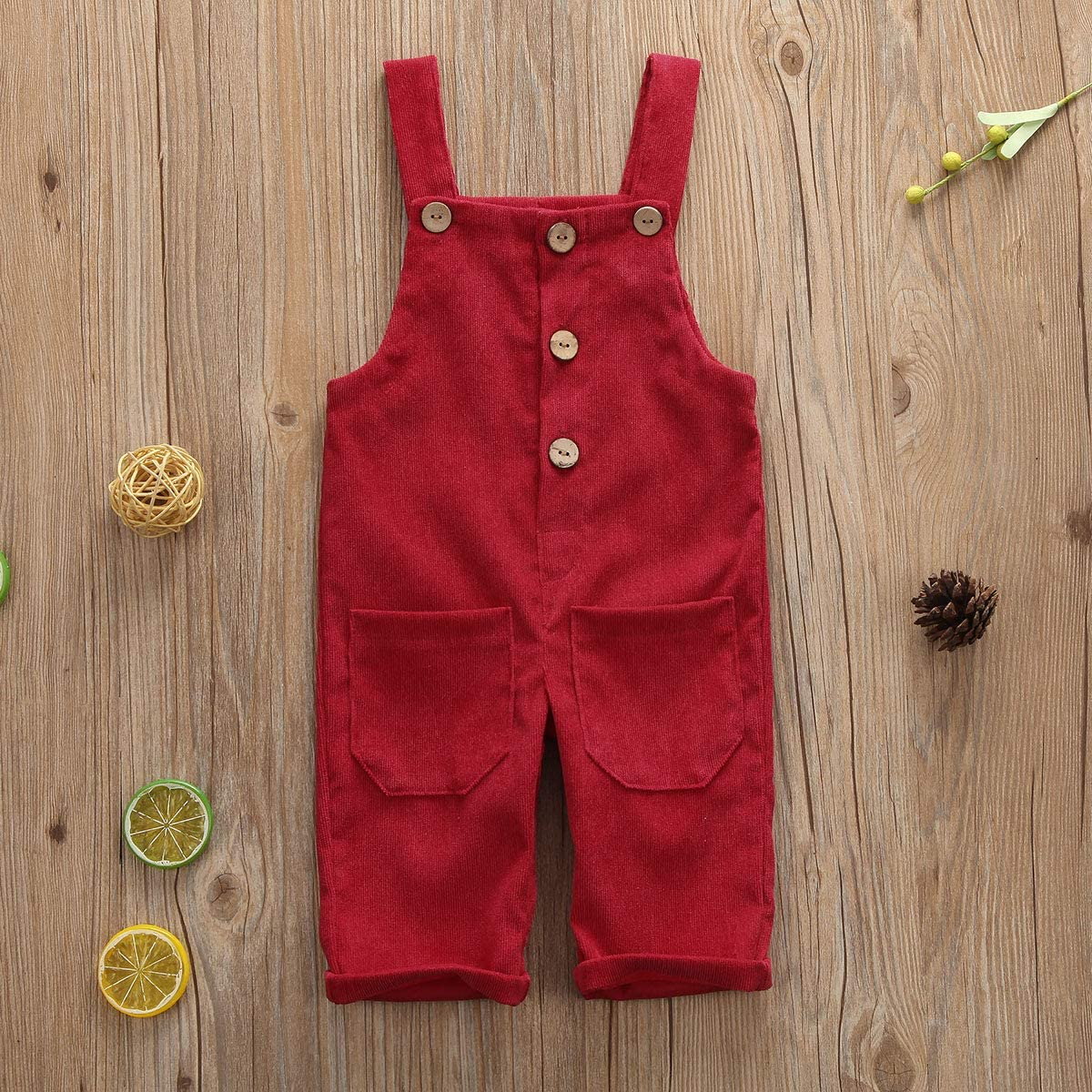 Greetuny Baby Girls Boys Unisex Velour Dungarees Braces Trousers for 6 Months 3 Years