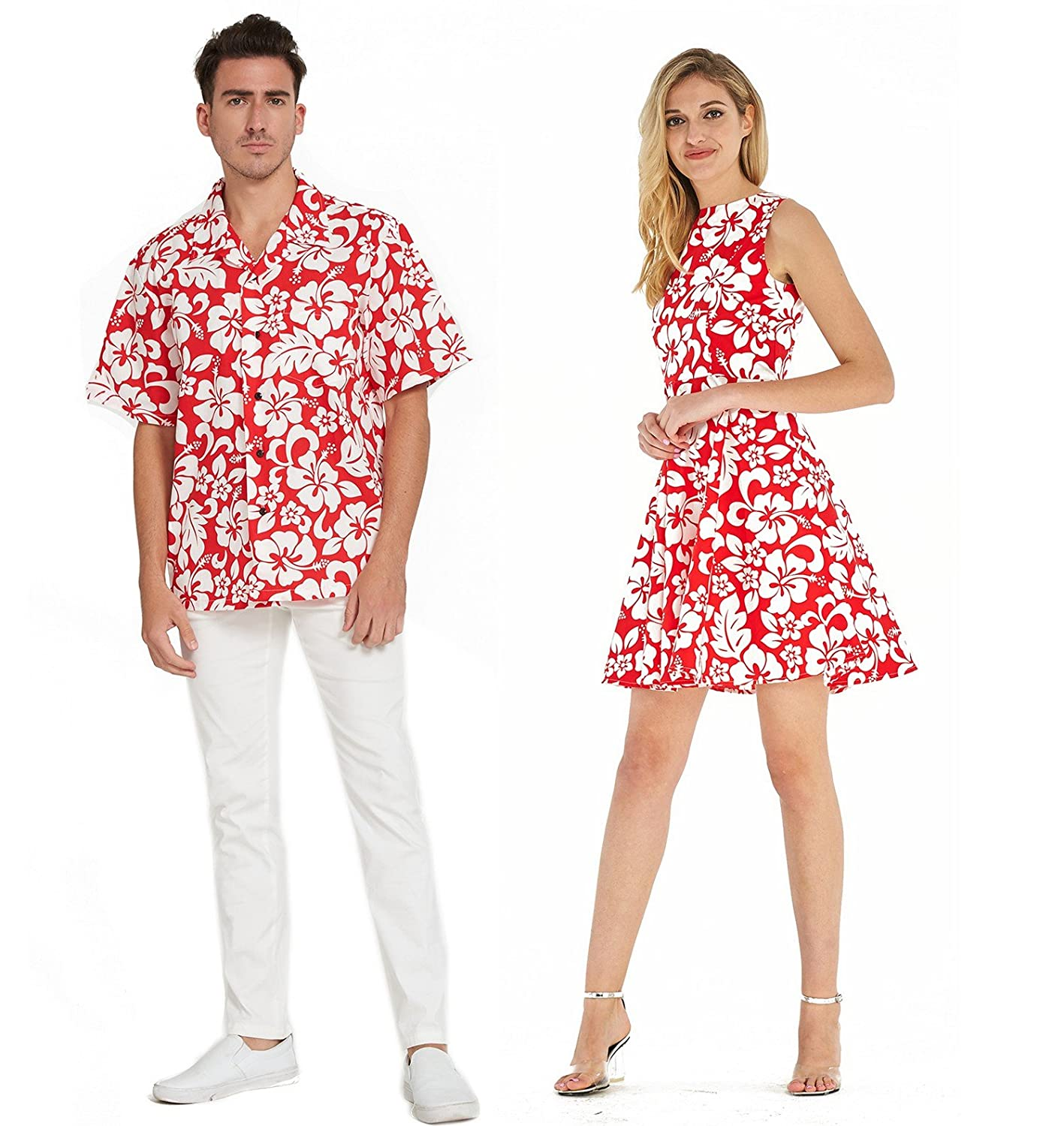 2750d009 Hawaii Hangover - Miss Hawaii Already? Keep Hangover going! Exact Matching  Outfit, Quality Made. Price includes one men shirt and one women Vintage  Dress.