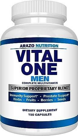 Vital One Multivitamin for Men – Daily Wholefood Supplement - 150 Vegan Capsules – Arazo Nutrition