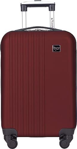 Travelers Club Cosmo Luggage, Rhubarb Red – 20 Inch, 20-Inch