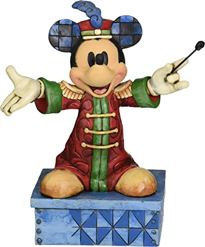 Jim Shore for Enesco Disney Traditions Band Leader Mickey Figurine, 6.875-Inch