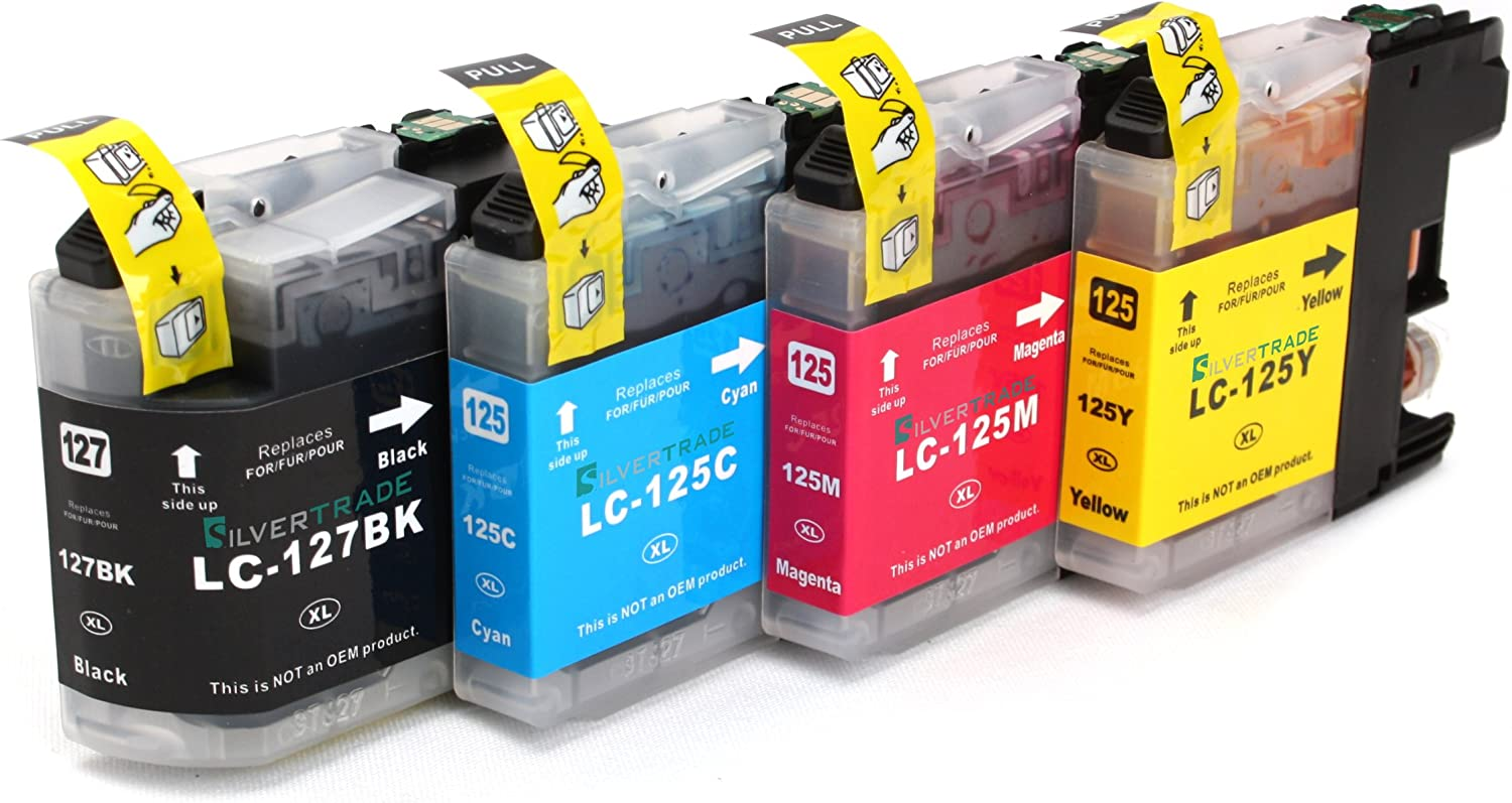 4x Compatible XL tinta cartuchos reemplazo for BROTHER LC-125 BK/C ...