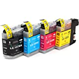 Multipack - 4 compatible XL Ink cartridges BROTHER LC-125 BK/C/M/Y (LC-125 C/M/Y + LC-127 BK) - pour BROTHER MFC-J4110 DW MFC-J4410 DW MFC-J4510 DW MFC-J4610 DW MFC-J4610 DW
