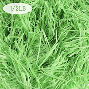 Gz party 1/2LB Easter Basket Grass Craft Shredded Tissue Raffia Gift Filler Paper Shreds for Baskets Egg Stuffers,Creative Gift Packaging for Spring Party Supplies Accessories Decorations