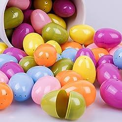 Plastic Easter Basket Stuffers Assorted Color for Girls Kids Spring Easter Decoration Valery Madelyn 36ct 2.36 inch Joyful Easter Eggs Fillers Hunt