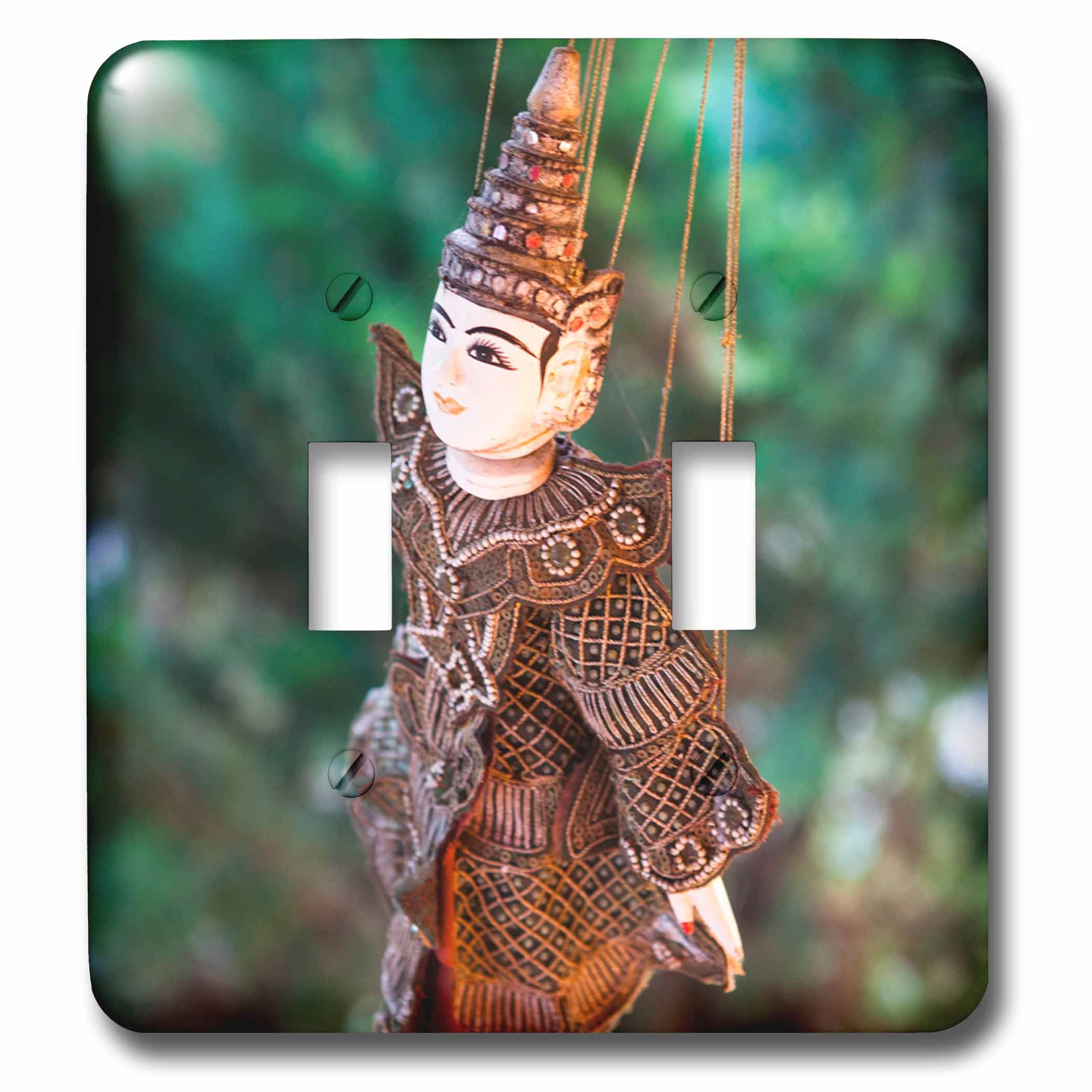 Danita Delimont - Toys - A local Thai puppet - Light Switch Covers - double toggle switch (lsp_226036_2) by 3dRose