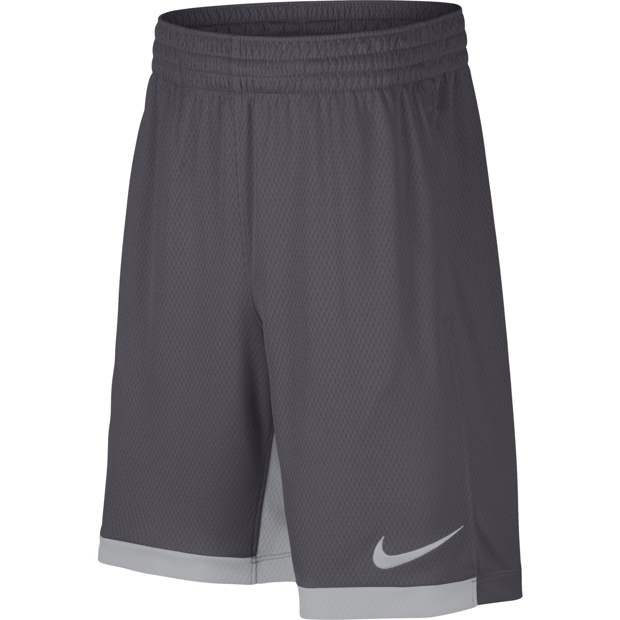 NIKE Boys' Dry Trophy Athletic Shorts, Dark Grey/Wolf Grey/Wolf Grey, X-Small