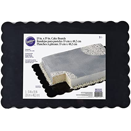 Wilton 2104-4329 Scalloped Cake Boards, Black, Pack of 3