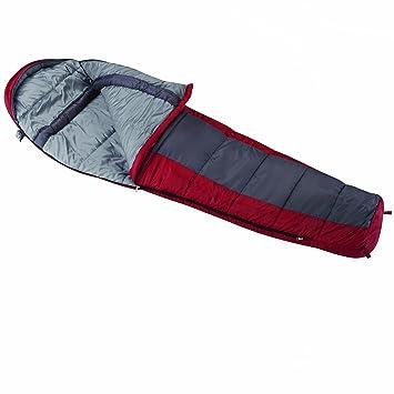 Wenzel - Saco de dormir tipo momia (apto para las 4 estaciones), color rojo y gris: Amazon.es: Deportes y aire libre
