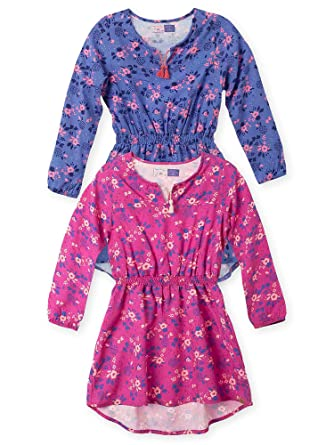 OFFCORSS Beautiful Long Sleeve Dresses for Teen Girls Vestidos De Niñas 2Pack 4