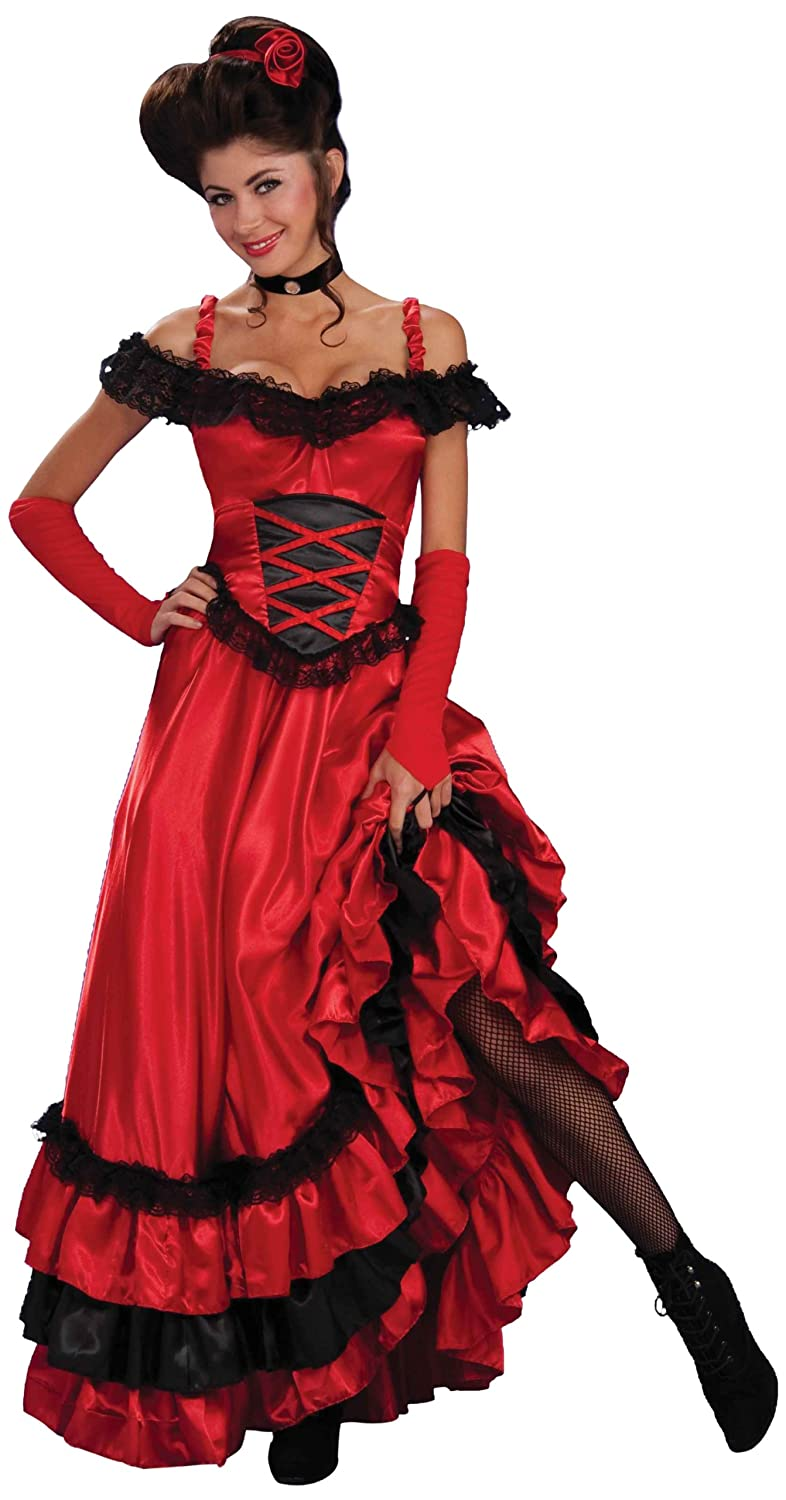 Victorian Dresses, Clothing: Patterns, Costumes, Custom Dresses Saloon Sweetie Costume Forum Novelties $38.99 AT vintagedancer.com