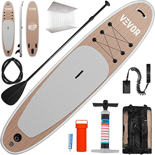 Amazon.com : Happybuy Inflatable Stand Up Paddle Board SUP Carry Bag Pump Leash Repair Kit Inflatable Sup Stand Up Paddle Board 4 in Thicker/w Non-Slip Deck ...