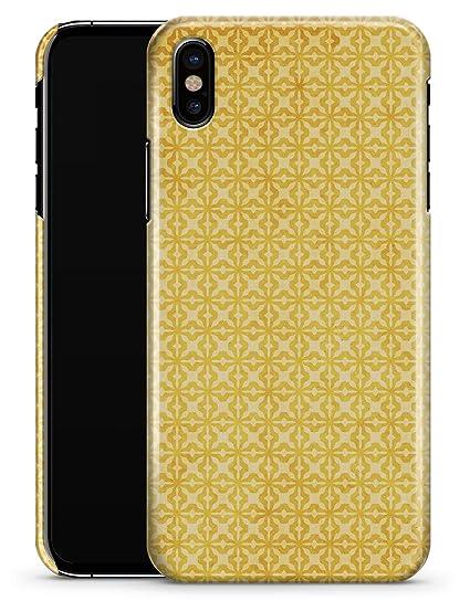 new style 6d530 8e47e Amazon.com: Mustard Yellow Cross Pattern - iPhone X Slim Durable ...