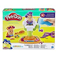 Play Doh Buzz n Cut Fuzzy Pumper Barber Shop Toy with Electric Buzzer and 5 Non Toxic Play Doh Colours, 2 Ounce Cans