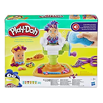 3699ef8009c Play-Doh Buzz 'n Cut Fuzzy Pumper Barber Shop Toy: HASBRO: Amazon.co ...