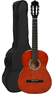 NAVARRA NV11 - Guitarra clásica 4/4 honey con bordes negro incl. funda con