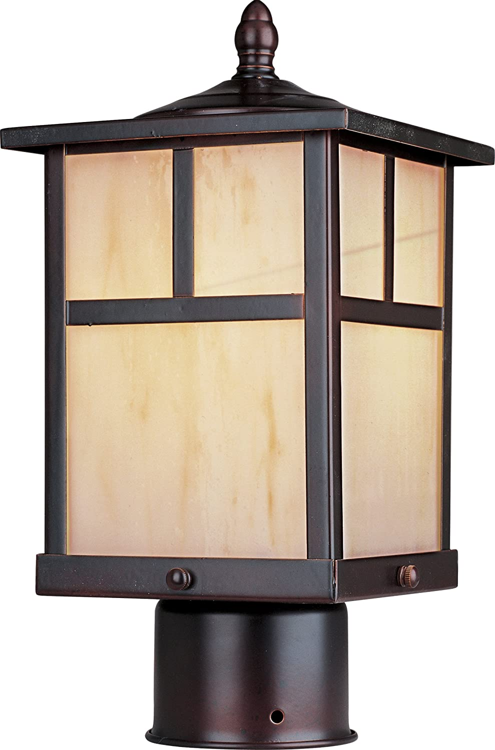 Maxim Lighting 55055 Coldwater LED Outdoor Pole/Post Mount Lantern, Burnished Finish, 6 by 12-Inch by Maxim Lighting B00T63R4ZQ