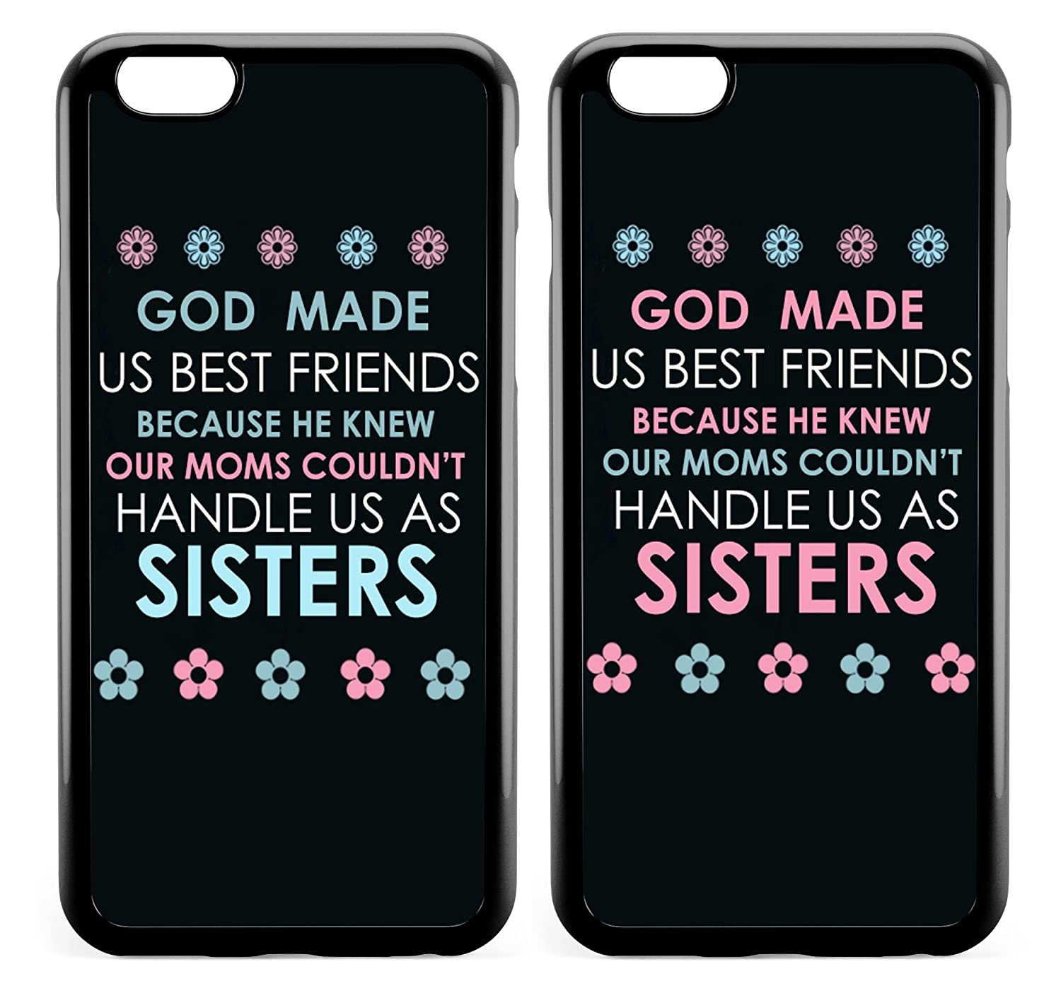 Amazon.com: iPhone 7 Funny Couples Cases BFF Best Friends Couple ...