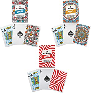 Copag NEO First Generation 3-Pack - Waves, Culture, and Nature Playing Card Decks - Poker Size/Regular Index
