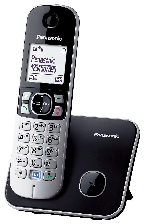 Panasonic KX-TG6811 - Teléfono fijo digital (inalámbrico, pantalla LCD, identificador de llamadas, 120 entradas), plateado (importado): Amazon.es: ...