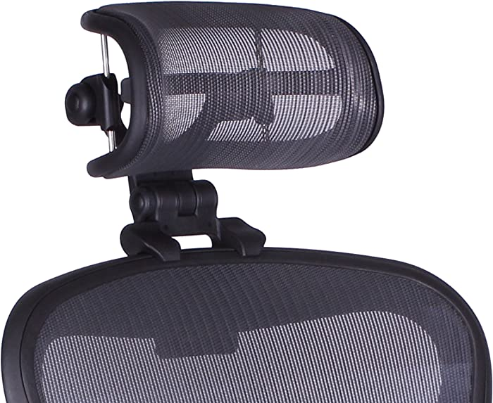 The Original Headrest for The Herman Miller Aeron Chair H4 Graphite | Colors and Mesh Match Remastered Aeron Chair 2017 and Newer Models