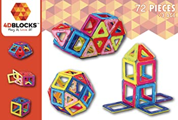 4DBlocks Magnetic Building Block 72-Piece Set