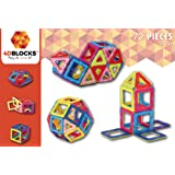 4DBlocks - Play it , Love it! - Magnetic Building Block Set – 72 Pieces 2.52in– Promotes Creativity, Imagination & Brain Development–The Best Combination Of Recreation & Education For Children