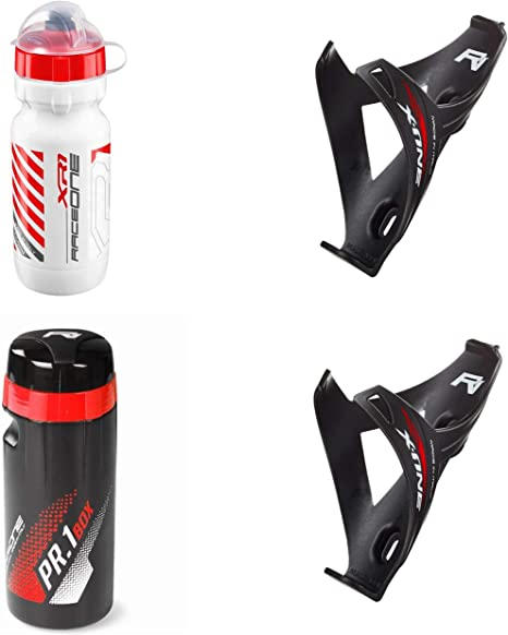 RaceOne.it - KIT GLOSS Race - 4 PCS -Bidón de ciclismo + 2 ...