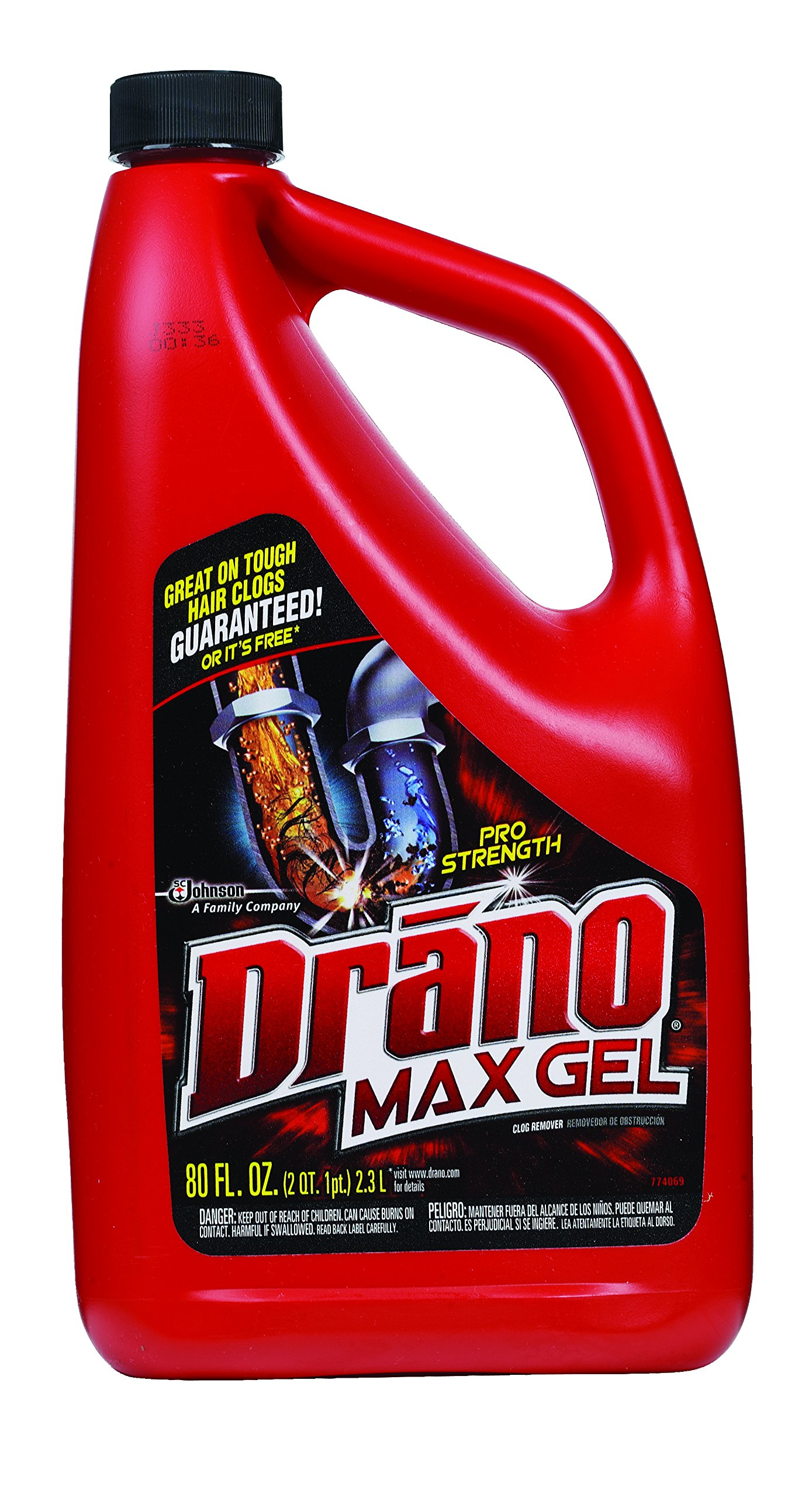 Drano Max Gel Clog Remover (80-Ounce, 6-Pack)