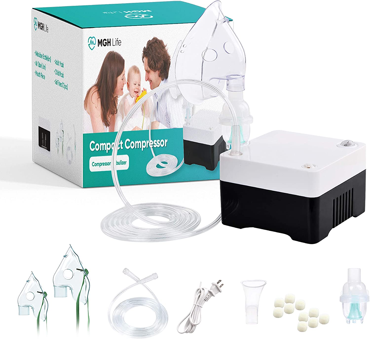 MGH Life Portable Cool Mist Generating Compressor System for Kids & Adults