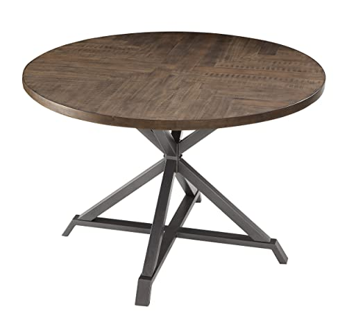 Homelegance Fideo 45 Round Industrial Style Dining Table