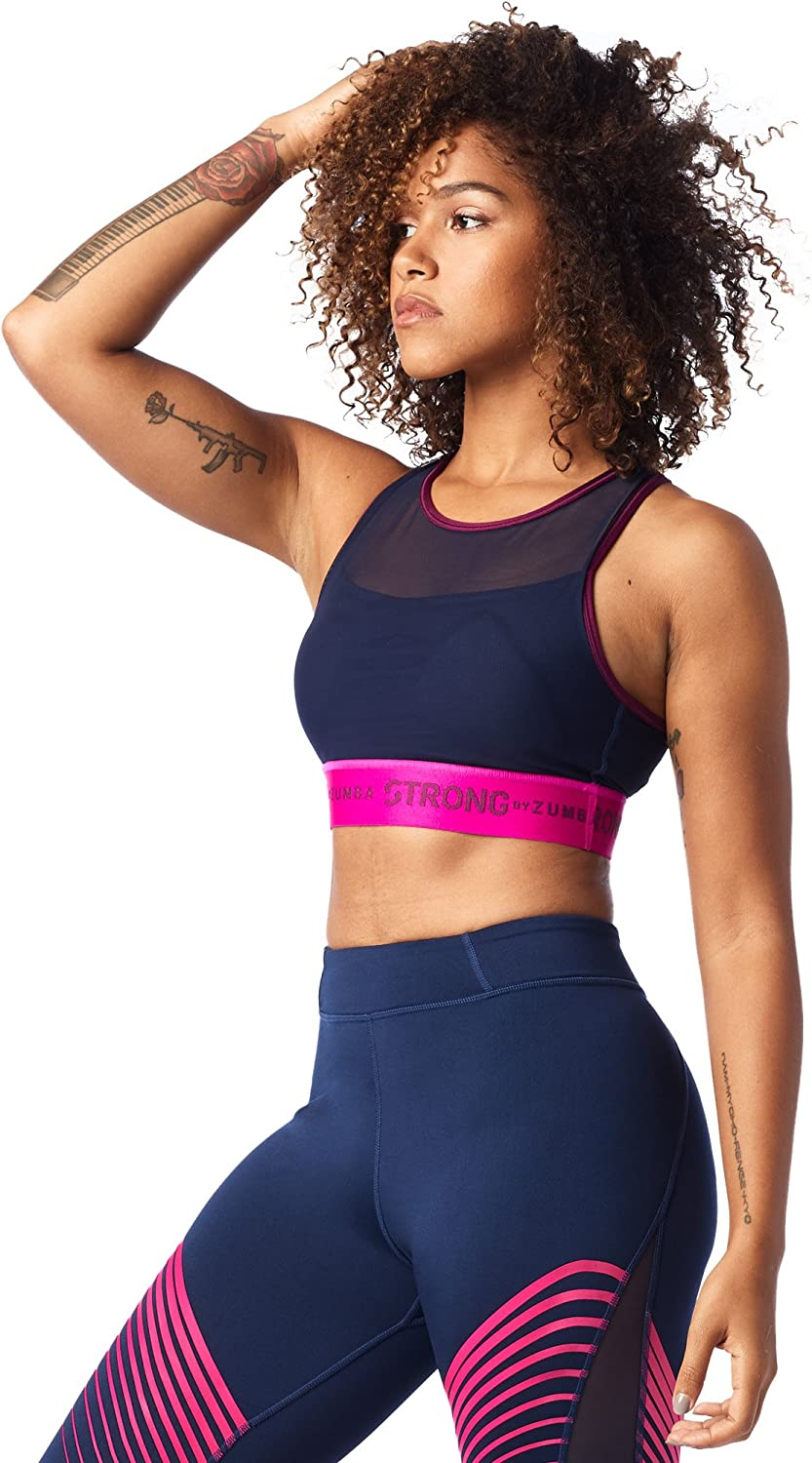 STRONG by Zumba Women's Crossback Sports Bra with high Impact Support