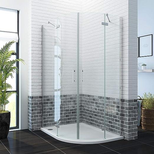 Cubículo de ducha con puerta para cuadrante derecho con bandeja de ...