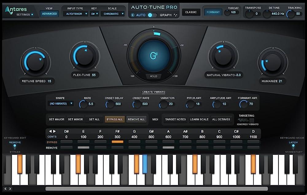 Auto-Tune Pro:インターフェイス