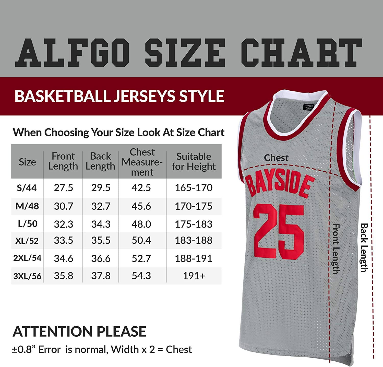 AFLGO Zack Morris #25 Bayside Basketball Jersey Stitched Set with Wristbands