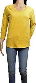 product image for James Perse Mustard California Long Sleeve T-Shirt