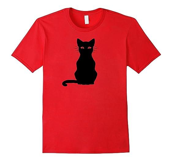 Amazon.com: Halloween Black Cat T-shirt: Clothing