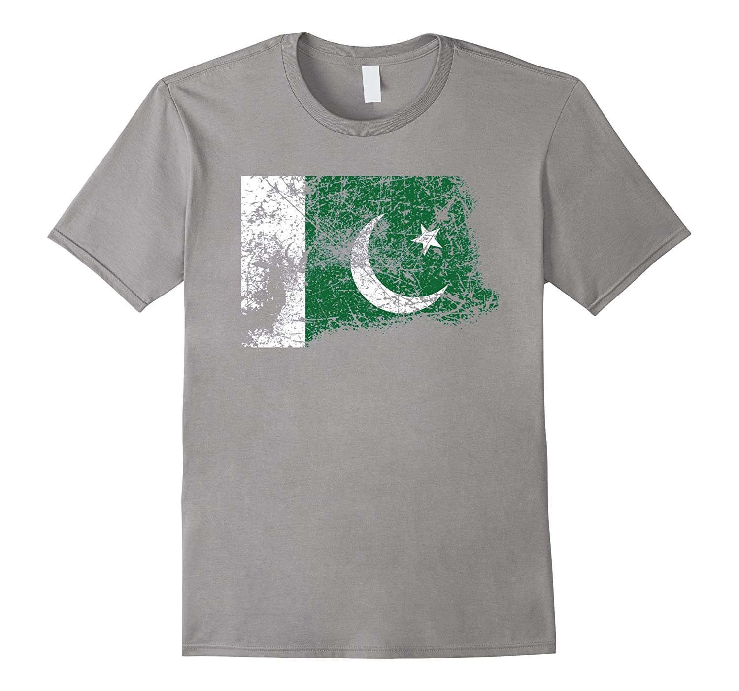 Distressed Beat Up Pakistani Flag Vintage Pakistan T-Shirt-TH