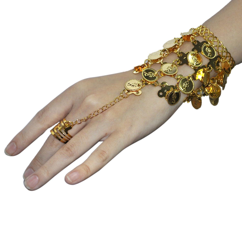 Belly Dance Gold Triangle Bracelet