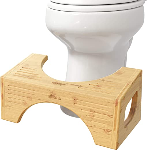 """Squatty Potty The Original Toilet Stool - Bamboo Flip, 7"""" & 9"""" Height, Two Sizes-in-One"""