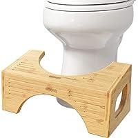 """Squatty Potty Bamboo Flip Toilet Stool 7"""" & 9"""""""