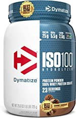 Dymatize ISO 100 Whey Protein Powder with 25g of Hydrolyzed, Chocolate,