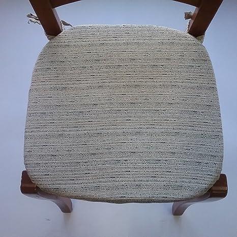 Cojines para sillas Cocina - Juego de 4 Piezas - Color Beige ...