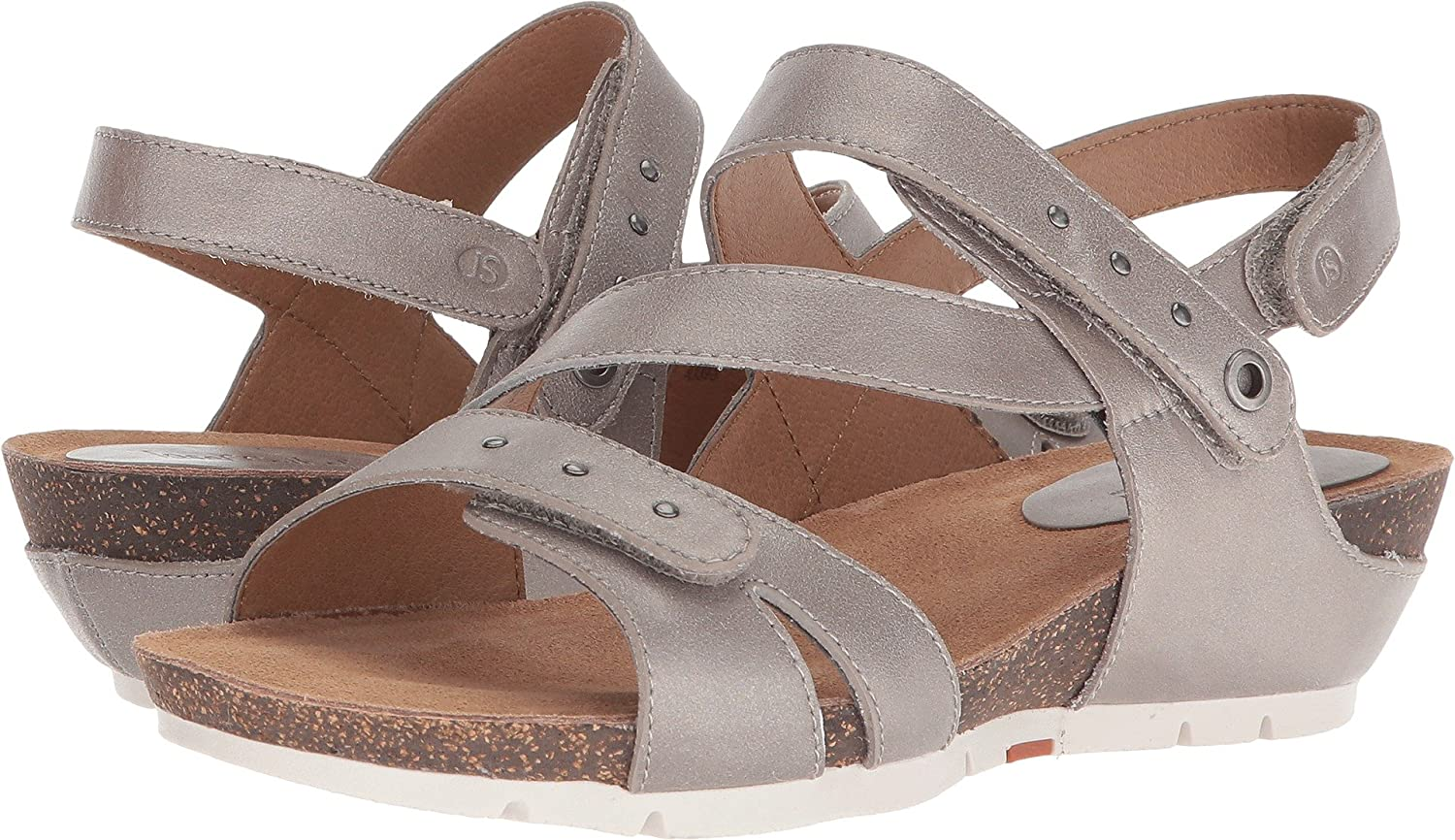 Josef Seibel Women's, Hailey 33 Wedge Sandals B079LHXRMS 42 M EU|Platin Metallic