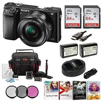 Amazon.com: Sony Alpha a6000 cámara sin espejo con ...