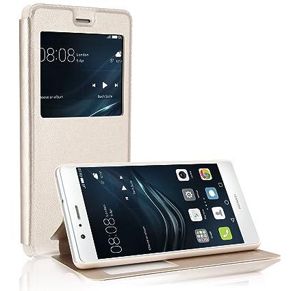 cheap for discount 32a03 7f5f0 Hua wei P9 lite Case,Hua wei P9 lite Case, Desoon Premium PU leather ...